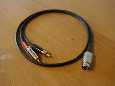 Latching 4 Pin Din To RCA/Phono Cable Interconnect For Naim 1m