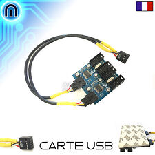 Carte Extension Interne USB 2.0 9PIN Doubleur 1 Vers 4 Port USB de Carte mère