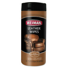 WEIMAN Leather Wipes, 7 x 8, 30/Canister 91