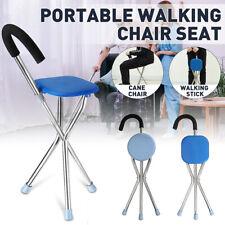 200KG Portable Folding Seat Cane Walking Stick Tripod Outdoor Cane Travel