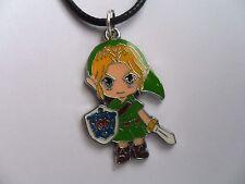 Legend of Zelda Link Colgante Collar de plata o de cuero cardado