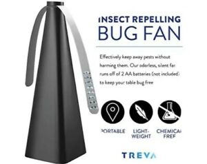 2 Treva Bug Repellent Fan - Chemical Free Bug Deterrent For Flies, Bees, Wasps