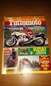 TUTTOMOTO #  8 - AGOSTO 1984 - YAMAHA XJ 750 - SUZUKI - VELOSOLEX - APRILIA 125
