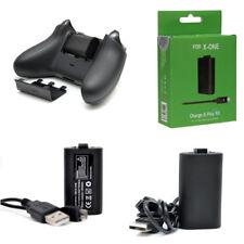 Wiederaufladbare Batterien Packung + 2M 6FT Hauptkabel für Xbox One S