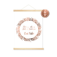 Copper family print / your families names personalised / Our tribe / home art