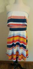 Charles Henry Dress XL strapless striped