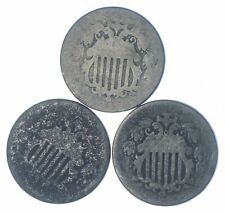 America's First Nickel! (3) 1866-1883 Shield Nickel US Coin Collection Lot *891