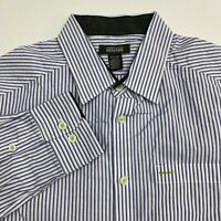Kenneth Cole Reaction Button Up Shirt Men's Size Small Long Sleeve Blue White