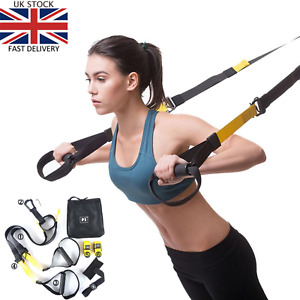 TRX STYLE HOME SUSPENSION TRAINER WORKOUT TRAIN GYM FITNESS CROSSFIT EXERCISE UK