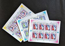 USSR RUSSIA STAMP MNH-OG 1992. Albertville Olympic Games. 3 Sheetlets FULL SET.