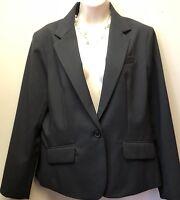 NWT NEW YORK & COMPANY Women's Blazer Sz 14 Black Formal Stretch One Button $69