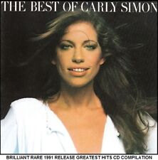 Carly Simon - Very Best Greatest Hits Collection - RARE 1991 CD 70's 80's Pop