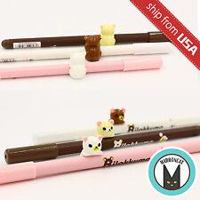 Lot 3 Kawaii Ball Pen Rilakkuma 3D Relax Bear Figurine Climb Gel Ink Pens Cute