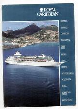 Vintage postcard ROYAL CARIBBEAN Steamship SS Song of Norway, Nordic Prince 1984