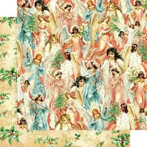 """Graphic 45 Joy to the World - HEAVENLY CHOIR - 12x12"""" Scrapbooking Paper"""