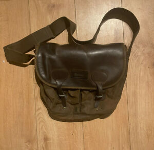 vintage barbour wax bag