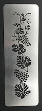 Climbing Grapevine Border Stainless Steel Metal Stencil Template 3cm x 12.5cm