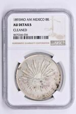 1893MO AM Mexico 8 Reales NGC AU Details, CLEANED Witter Coin