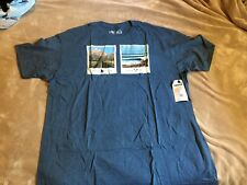 Hippy Tree Polaroid Tee Men's Blue Heather Short Sleeve T-Shirt XXL 2XL NWT