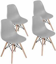 2/4er Esszimmerstühle Set Wohnzimmer Büro Stühle Küchenstuhl Stuhl Kunststoff