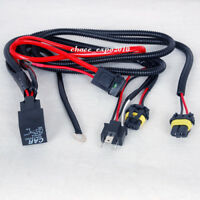 Car HID Xenon Light H4-1 H4-2 Bulbs Relay Fuse Cable Wire Wiring Harness Vehicle