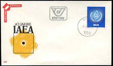 Austria 1977 Agenzia per l'energia atomica FDC primo giorno Coperchio #C 17565