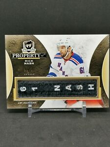 2015-16 The Cup Property Of #PORN Rick Nash 1 of 1 1/1