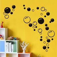 Colourful Bubbles Vinyl Sticker Wall Art BathRoom Window Shower Decor Decal DIY