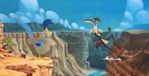 BEN OLSON Signed Scenic Route Wile E Coyote Warner Bros Ltd Ed of 20 on Canvas