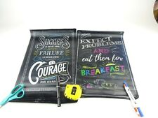 16 Canvas Inspirational Classroom Posters - Chalkboard Motivational Teacher