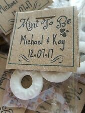 FAVOURS Wedding Mints 'Mint to be' - Sweets- Mints -KRAFT CARD x100