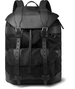 Berluti Paris Leather Nylon Backpack Travel Bag Shoulder Bag