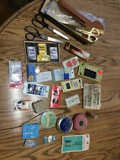 Vtg Sewing Lot Sterling Needle Stick Pins Scissors Cushion Sears Kenmore Adverti