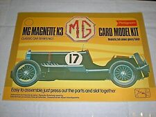 MG MAGNETTE K3. PLATIGNUM CARD MODEL KIT. CLASSIC CAR SERIES