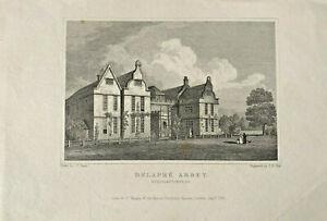 Delapre Abbey Northamtonshire antique print