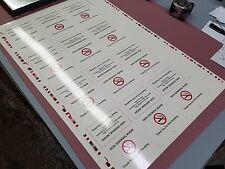 Lot Of 10 Sheets Vinyl No Smoking Room Sign Cut And Fold Signs 120 Signs