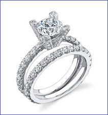 Designer Gregorio Beautiful 1.60ctw Diamond Semi Mount & Wed Band 18K WG