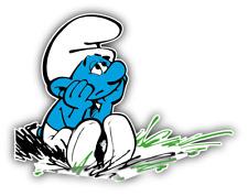 The Smurfs Sad Cartoon Car Bumper Sticker Decal 5'' x 4''