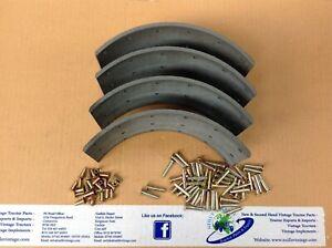 """David Brown d/b 1200  Brake Shoes Lining Kit 3 1/2"""" Wide"""