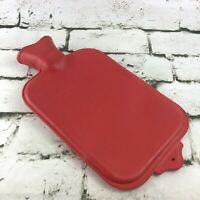 Vintage Hot Water Bottle Classic Red Soothing Comfort Collectible Warmth Therapy