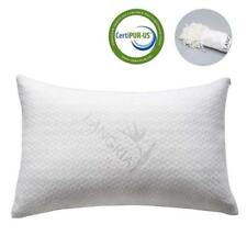 LANGRIA Luxury Bamboo Shredded Memory Foam Pillow with Zip Cover and Adjustable