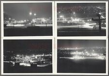 Lot of 4 Vintage Photos Unusual Time Elapse Street Lights at Night 766289