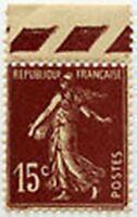 "FRANCE STAMP TIMBRE  N° 189 ""TYPE SEMEUSE FOND PLEIN 15 C BRUN LILAS"" NEUF xTB"