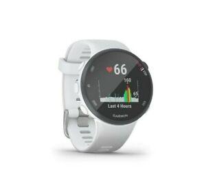 Garmin Forerunner 45s HRM with GPS Running Watch - White