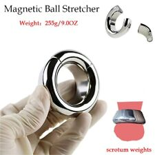 Magnetic Ball Stretcher Weight Penis Chastity Ring Stainless steel Testicle Ball