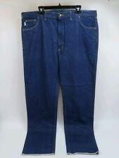 Carhartt Original Denim Jeans Unhemmed Dark Wash Big & Tall Mens Size 48