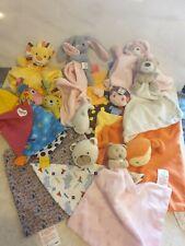 Bundle Of Baby Comforters Blankies Comfort Blankets x11
