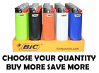 Big Size BIC Lighter Assorted Multi Color Flint Lighters Multi 1 2 4 8 12 50
