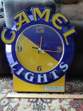 Rj Reynolds (1993) Camel Lights Promo > Wall Clock < Vtg Convenience Store Usa