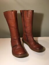 "Dr Marten's ""Grizzly Bark"" Women's Brown Wedge Zip Mid-calf boots UK Size 7"